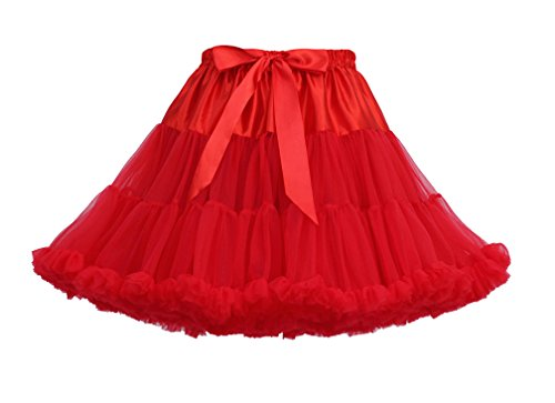 Femme Tutu Tulle en Tutu Ballet Jupon Rouge Underskirt Petticoat Courte Jupes Jupe Vintage prAgwBfqp