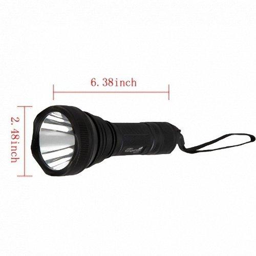 TangsFire HD-2010 CREE XML-T6 6W 1200LM 5 Mode Waterproof Flashlight Torch Black
