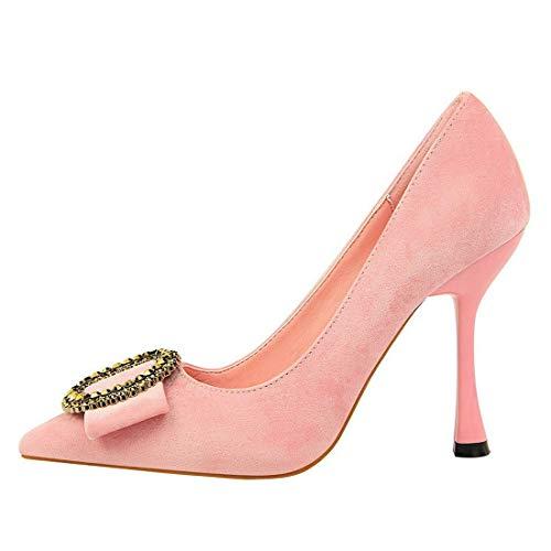 du Décolleté Chaussures satin classiques et parti hauts pour habillées hauts femmes à classiques talons rose talons pointues à talons en hauts pUdwqOUr