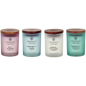 Chesapeake Bay Candle Mind & Body Small Scented Candle Gift Set #2 (4-Piece)