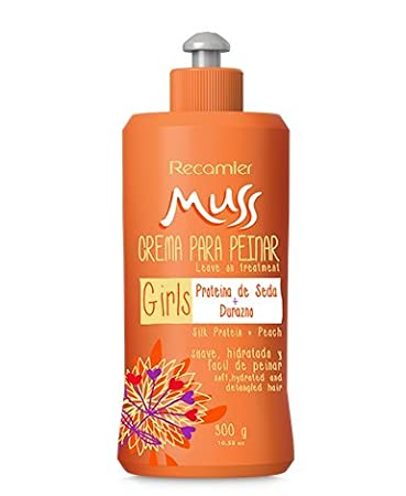 Amazon.com : MUSS CREMA DE PEINAR DURAZNO NO ENJUAGUAR, PARA BEBE Y NIÑOS / Combing cream peach aroma leave in. 300gr/ 10.5oz : Beauty