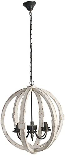 A B Home Calder Wooden Chandelier