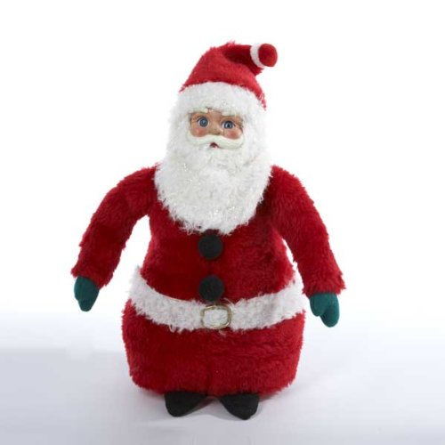 Kurt Adler Vintage-style DECO SANTA CLAUS Figurine Plays Jingle Bells