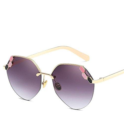 Aoligei Lunettes de soleil femme visage rond diamant de couleur couleur haute définition mer film lunettes de soleil mode décoratifs bdLtFk