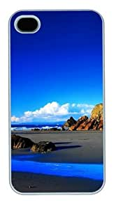 Blue Sky Custom iPhone 4s/4 Case Cover Polycarbonate White
