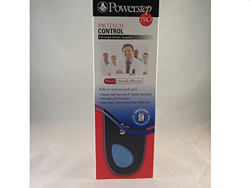 Powerstep Protech Control Full Length Or size: E - M8-8.5 or W10-10.5 - Back Support Control