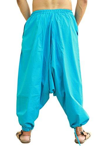 Clair Sarjana Pour Style Pantalon Bleu Homme Yoga Bombachos Génie Artisanat Coton FpWn4q