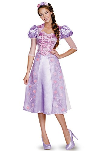 [Disguise Women's Rapunzel Deluxe Adult Costume, Purple, Medium] (Deluxe Adult Womens Costumes)