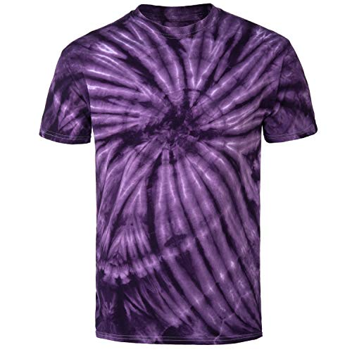 - Magic River Handcrafted Tie Dye T Shirts - Purple Cyclone - Kids X-Large