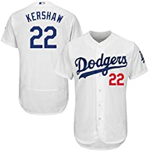 Los Angeles Dodgers #22 Clayton Kershaw Men's Cool Base White Jersey Custom Baseball Jersey