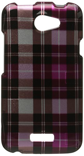Dream Wireless CAHTCONEXHPCK Slim and Stylish Design Case for HTC One X - Retail Packaging - Hot Pink Checker