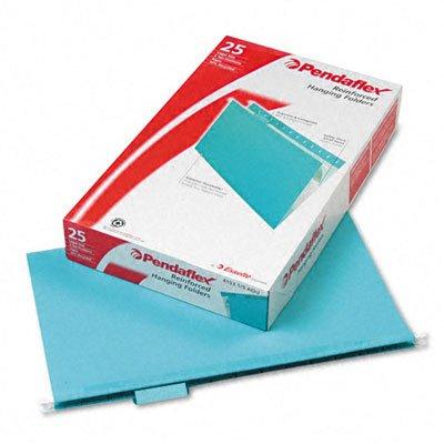 Pendaflex Reinforced Hanging Folders, 1/5 Tab, Legal, Aqu...