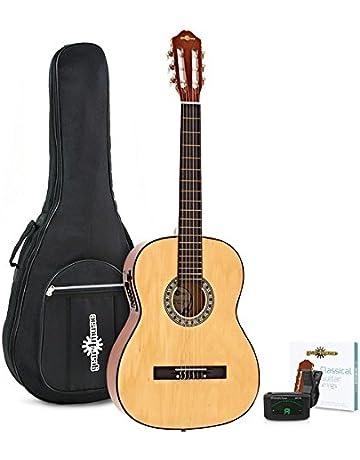 Paquete de Guitarra Clásica Electroacústica Natural de Gear4music