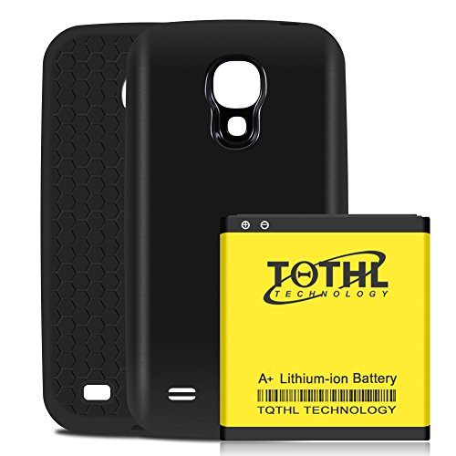 TQTHL Samsung Galaxy S4 6200mAh Best Replacement Extended Li-Ion Battery with Black Back Cover & HoneyComb Matte TPU Case -Black [ 24 Month Warranty ]