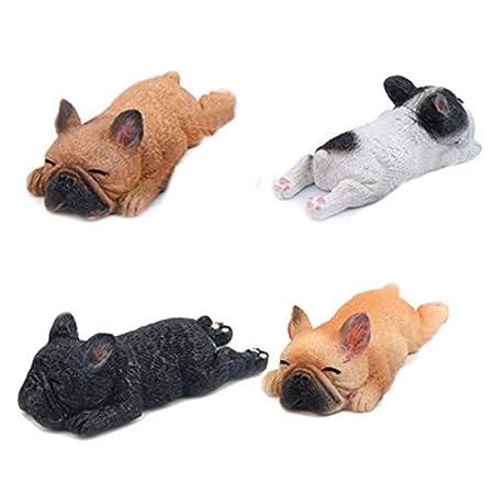 Xigeapg 4 Unids Sleepy Zoo 3D DIY Bulldog Francés Resina Imanes de ...