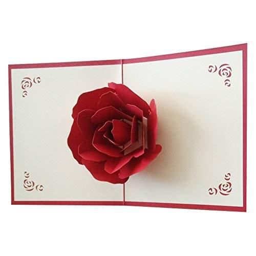 Kofun Greeting Card Envelope, 3D Pop Up Merry Christmas Greeting Card Birthday New Year Invitation Card Paper Cards Handmade Craft Valentines Halloween bat