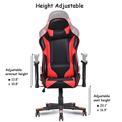 Giantex Gaming Chair Ergonomic Racing Style Reclining
