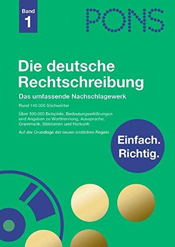 PONS Die deutsche Rechtschreibung inkl. CD-ROM: Das umfassende Nachschlagewerk