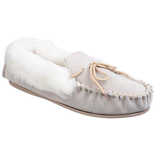 Mirak AVON Ladies Suede Fleece Lined Moccasin Slippers Be...
