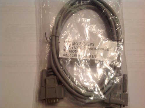 (MGE UPS Systems RS232 Serial UPS Communication Cable REF 66049 DB-9)