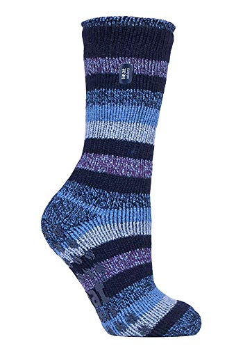 HEAT HOLDERS - Damen Warme Anti Rutsch Stopper Thermo Socken mit ABS Sohle 2.3 TOG