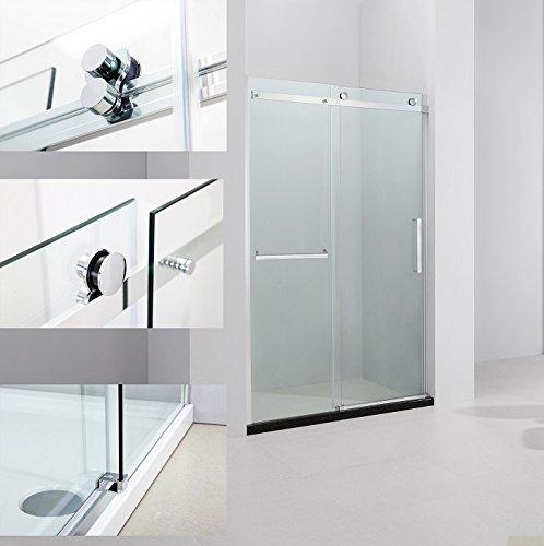 """Art of Bath D6075 57"""" to 59"""" Frameless Sliding Shower Door C"""