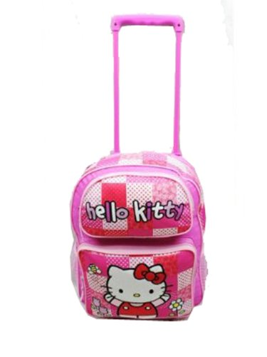 Rolling Backpack - Hello Kitty - Pink/Red Box Large School Bag