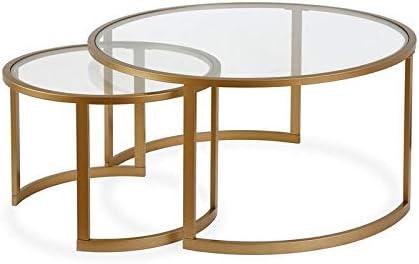 Henn Hart Two Tier Brass Coffee Table