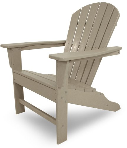 POLYWOOD SBA15SA South Beach Adirondack Chair, Sand - Built to withstand a range of climates including hot sun, snowy winters, and strong coastal winds. Weatherproof. Will not splinter, crack, chip, peel, or rot when exposed to the elements. Polywood lumber is a proprietary plastic containing recycled milk jugs and detergent bottles. - patio-furniture, patio-chairs, patio - 41sI73JgODL -
