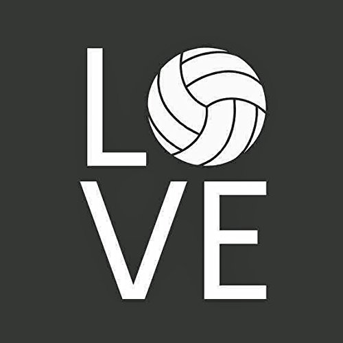 KEEN Volleyball Love Vinyl Decal Sticker|Cars Trucks Vans Walls Laptops|White|5.5 in|KCD536