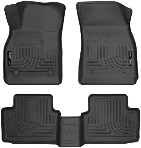 Husky Liners Fits 2013-15 Chevrolet Malibu, 2016 Chevrolet Malibu Limited Weatherbeater Front & 2nd Seat Floor Mats,Black,98191
