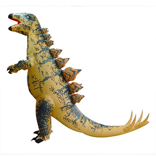 HHARTS Adult Dinosaur Inflatable Costume Blow Up Fancy Dress Costume for Halloween Cosplay Party Christmas Unisex Stegosaurus Inflatable Costume -