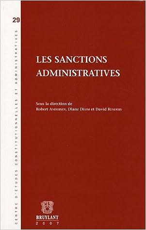 Livres gratuits Les sanctions administratives pdf