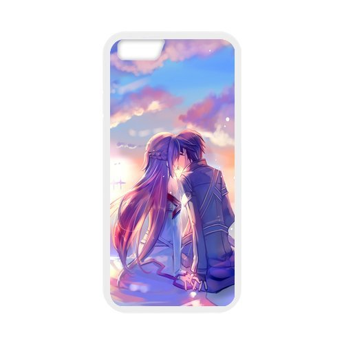 Fayruz- Personalized Protective Hard Textured Rubber Coated Cell Phone Case Cover Compatible with iPhone 6 & iPhone 6S - Sword Art Online F-i5G1087