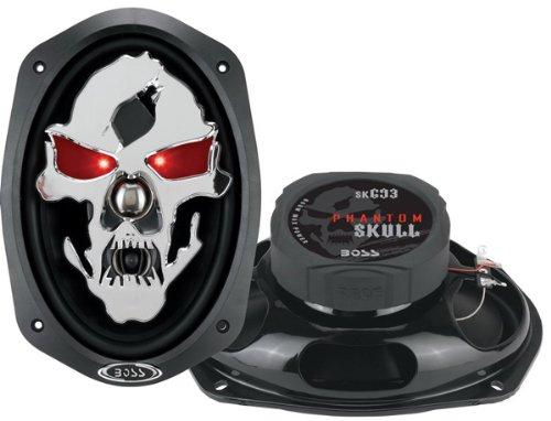 BOSS Audio SK693 Phantom Skull 600-Watt 3-Way Auto 6x9-Inch Coaxial Speaker