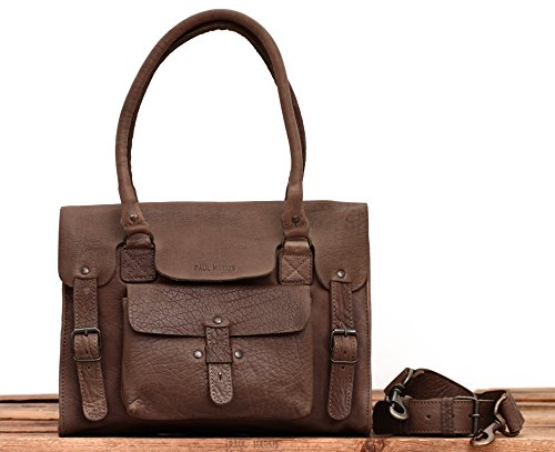 LE RIVE GAUCHE Marrone Taupe borsa in pelle stile vintage PAUL MARIUS
