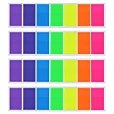 Multicolor flags: There are 7 colors: rose red, yellow, blue, green, orange, deep purple and light purple; Assorted colors are good as as color-coded notes.  Writable labels: Made out of PET and it is easy to write words on them; Note: these highligh...