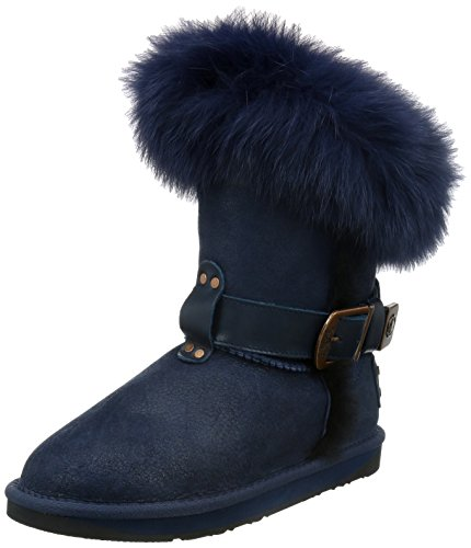 Australia Luxe Collective Womens Tsar Short Fox Fur Sheepskin Winter Boot
