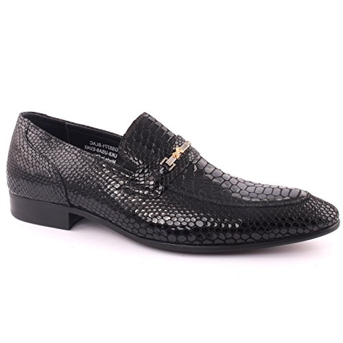 Unze Men Leather Slip On 'Chiza' Party Prom Office Wedding Convocation Formal Dress Loafer Boots UK Size 7-11 – JM66-553