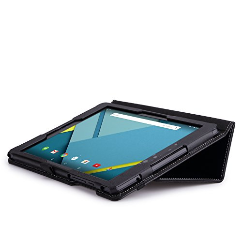 MoKo Google Nexus 9 Case - Slim Folding Cover Case for Google Nexus 9 8.9 inch Volantis Flounder Android 5.0 Lollipop tablet by HTC, BLACK (With Smart Cover Auto Wake / Sleep Feature)
