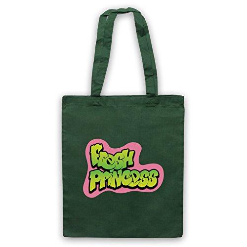 Fresh Princess Parody Logo Bolso Verde Oscuro