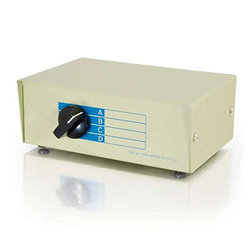 (C2G 03292 4-Port DB25 Manual Switch Box, Beige)