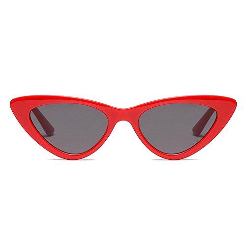 gris Rouge De Extérieures uv Miroir Anti Filles Nouvelle Uv400 Triangle Soleil Lunettes Femmes qP7UwfI