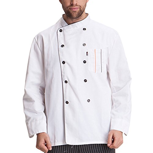 Work calidad Long Fashion Sleeve Modern Chef White Clothes Zhuhaitf Uniform Unisex Alta B5UwqxIY