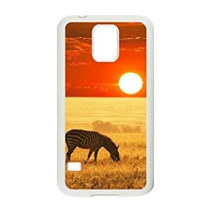 Beautiful grassland Unique Design Cover Case with Hard Shell Protection for SamSung Galaxy S5 I9600 Case lxa#456125