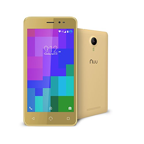 NUU Mobile A3 5.0' Dual SIM Android Marshmallow Smartphone with 1YR Warranty, Gold