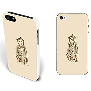 Custom Simple Cute Cartoon Design 3d Hard Protective Case Cover Iphone 5 5s for Kids With High Grade Design L-NE CASE