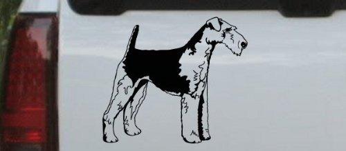 - Black-Airedale Terrier Animals Decal Sticker - Die Cut Decal Bumper Sticker for Windows, Cars, Trucks, Laptops, Etc.