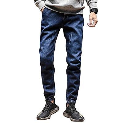 Pivaconis Mens Fashion Slim Straight Leg Haren Denim Pants Haren Jeans Trousers for sale