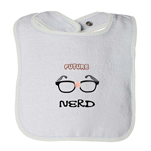 Future Nerd Picture Black Nerdy Glasses Infant Contrast Trim Terry Bib - Of Pictures Glasses Nerdy